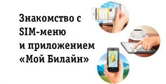 SIM-меню Билайн и приложение «Мой Билайн»
