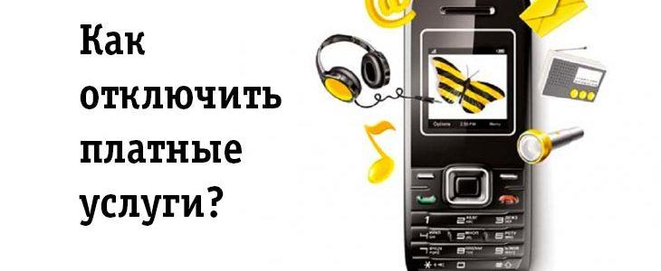 Как отключить платные услуги на билайн казахстан