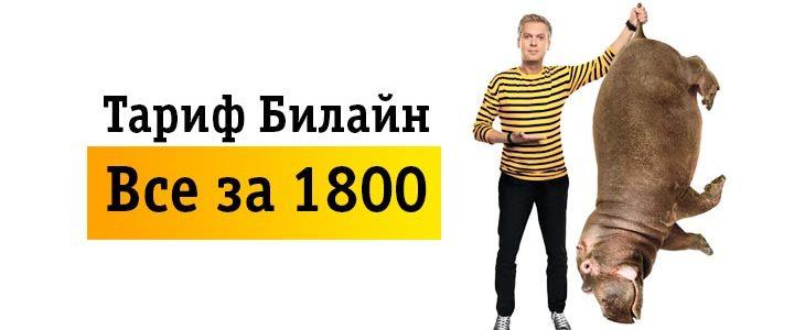 Тарифный план Билайн «Все за 1800»