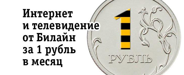 Домашний интернет Билайн за 1 рубль в месяц
