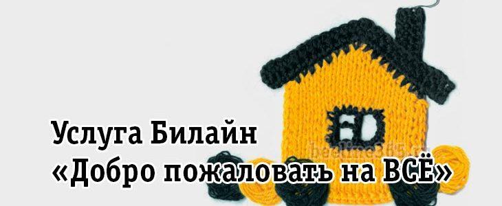 Услуга Билайн «Добро пожаловать на ВСЁ»