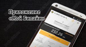 Мобильное приложение «Мой Билайн»