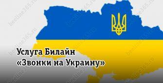 Услуга Билайн «Звонки на Украину»