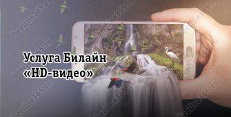 Услуга Билайн «HD-видео»