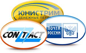 Вывод денег через системы Contact, Юнистрим или Почту России