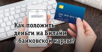 Как положить деньги на Билайн с банковской карты?