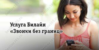 Услуга Билайн «Звонки без границ»