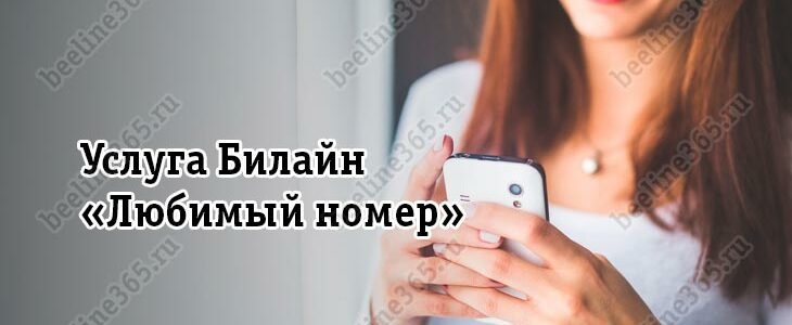 Услуга Билайн «Любимый номер»